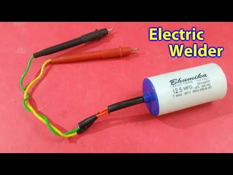 How To Make Welding Machine In 5 Minutes Youtube Spot Welding Welding Electronics Projects Diy