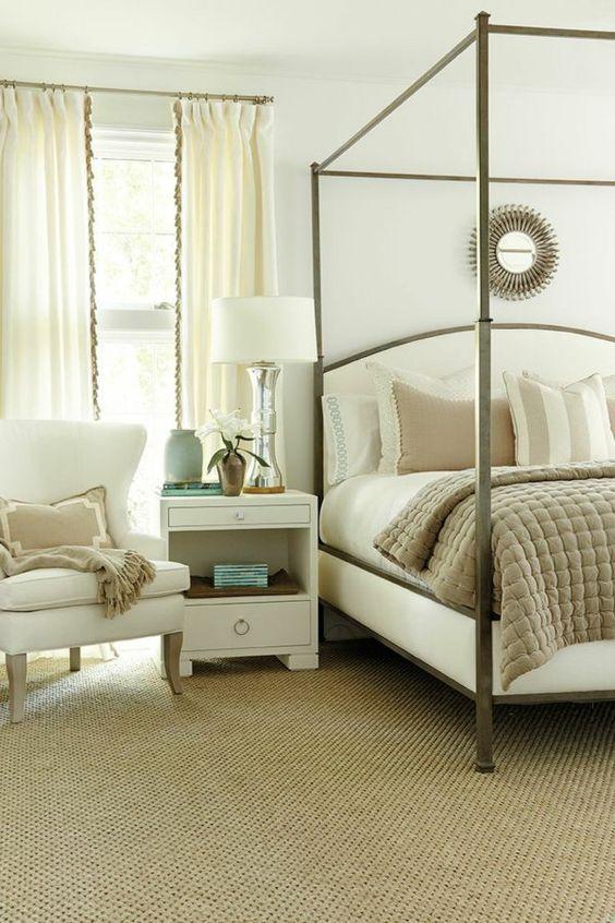 sisaltepich beige schlafzimmer sessel bett nachttisch