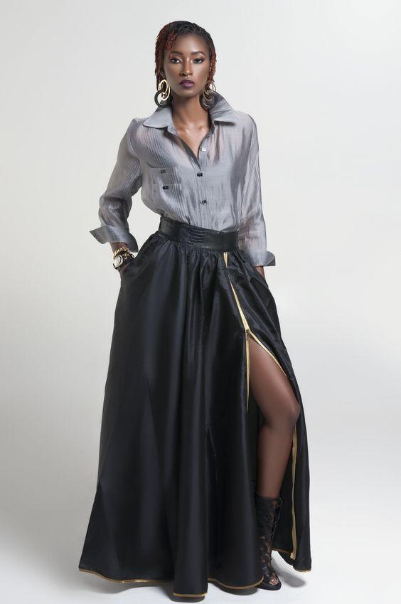 Black Widow Maxi Skirt
