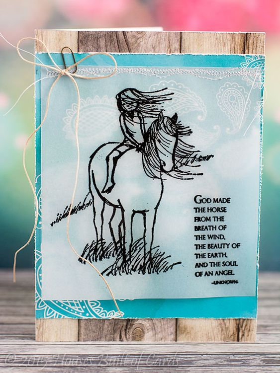 Horse Birthday Card By My Daughter Horse Cards Happy Birthday Cards Handmade Horse Birthday
