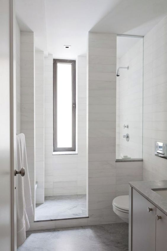 way to do shower room in the Master bath down the road, move toilet out with smaller vanity