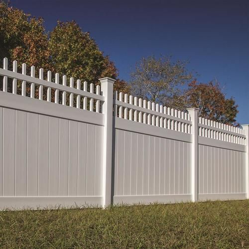 Shop Freedom Wakefield 6 Ft H X 8 Ft W White Vinyl Fence Panel In The Fence Panels Section Of Lowes Com In 2020 Vinyl Fence Panels Fence Panels White Vinyl Fence