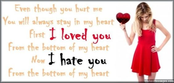 my heart first i loved you from the bottom of my heart now i hate