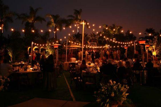 Allie 39 S Party Rental Outdoor Wedding Free Standing Market Light Design