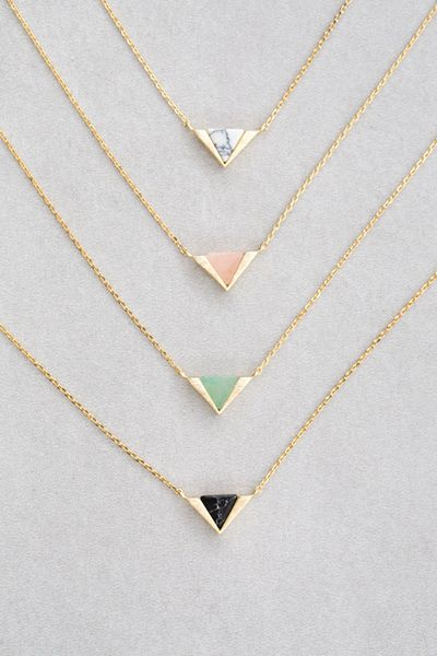 Bridesmaids gift idea - matching unique necklaces for bridesmaids {Courtesy of Lovoda}: