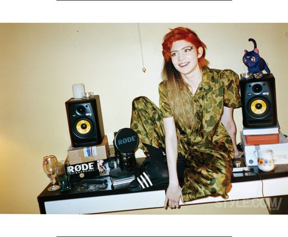 At Home With Grimes, Donatella Versace's New Favorite Musician