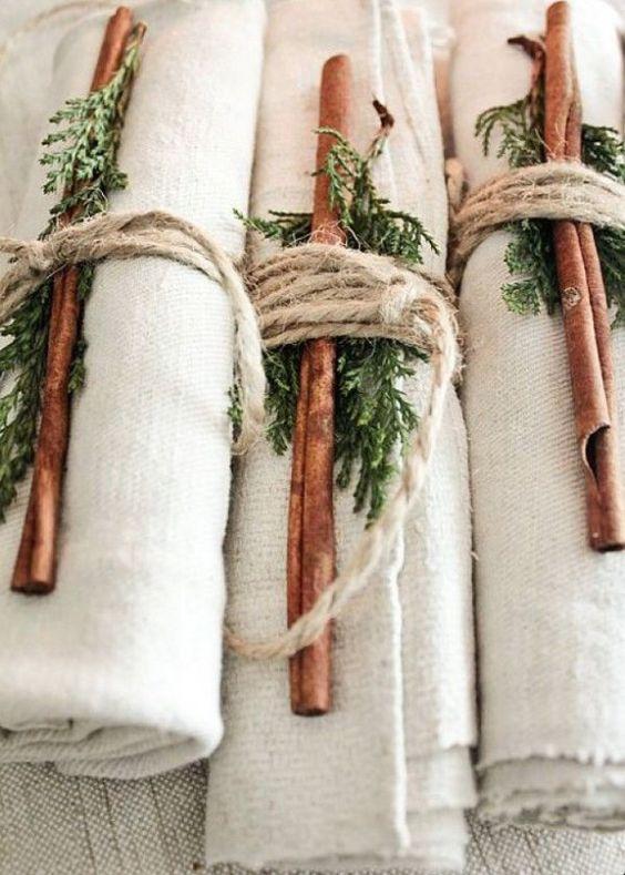 La branche de sapin pour sublimer les ronds de serviettes , diy christmas