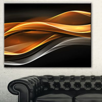 DesignArt 'Gold Silver Inward Lines' Graphic Art on Wrapped Canvas ...