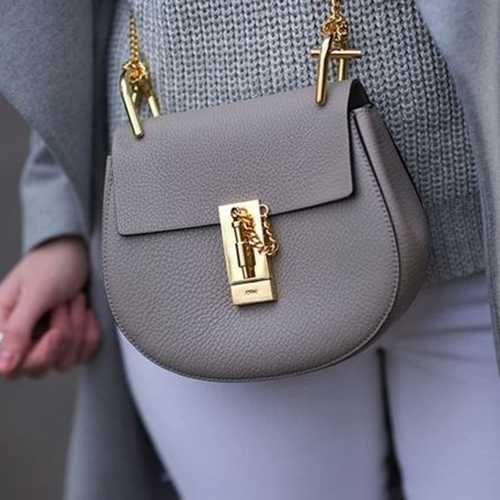 Designer Textured Faux Leather Small Shoulder Bag For Women Drew Bag Chloe Bag Chloe Drew Bag