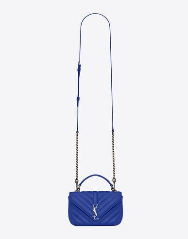 Monogram Saint Laurent Crossbody Phone Pouch In Ultramarine Leather