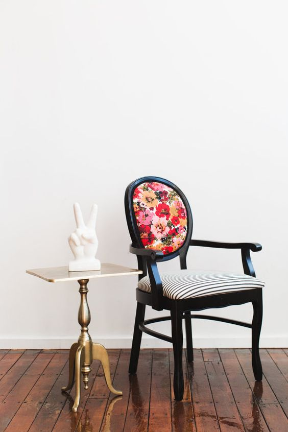 Refurbished Vintage Wooden Arm Dining Chair By JessicaAllynDesigns