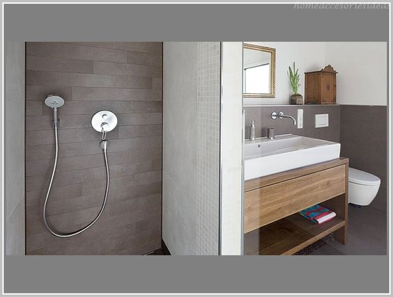 Badezimmer Fliesen Braun Und Beige Erstaunliche Mystyle - badezimmer fliesen grau