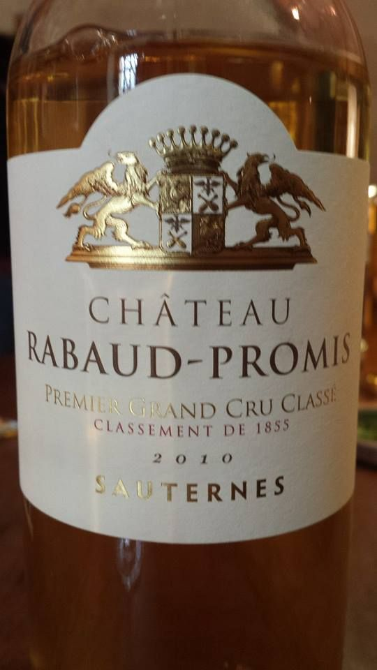 Wine of the day // Vin du jour: Château Rabaud-Promis 2010 – 1er Grand Cru Classé, Sauternes (16.75/20) Read more / Lire plus: http://vertdevin.com/vin/chateau-rabaud-promis-2010-1er-grand-cru-classe-de-sauternes-3/