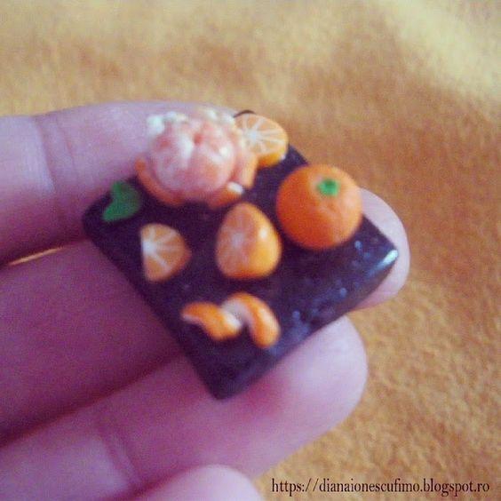 Polymer clay oranges