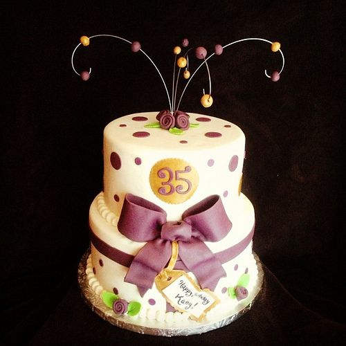 Purple and Gold 35th Birthday Cake by Simply Sweet Creations (www.simplysweetonline.com)