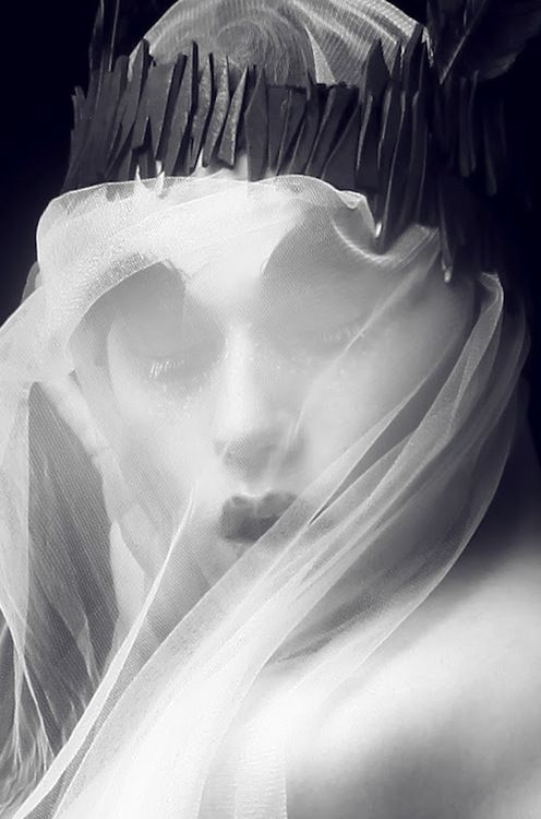 ☫ A Veiled Tale ☫ wedding, artistic and couture veil inspiration -: