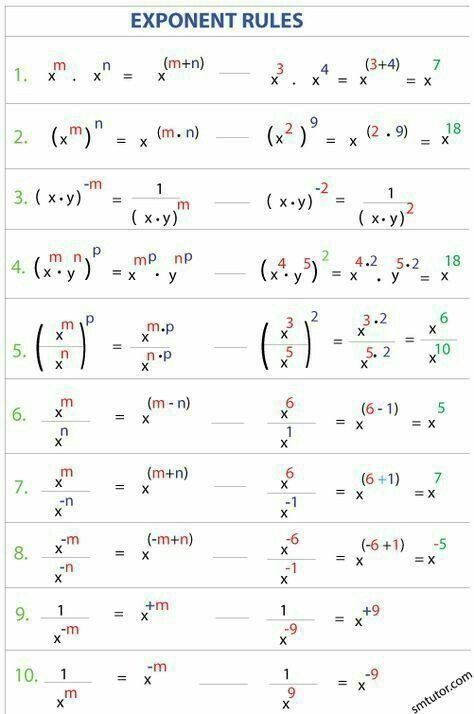 Simplify Square Roots Worksheet 464 Best Math 13 15 Years Old Images In 2020 Mathematics Education Studying Math Exponent Rules Solving square root equations worksheet