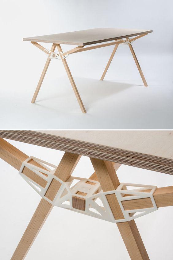 Superbe concept d 39 impression 3d bois une table design for Design 3d en ligne
