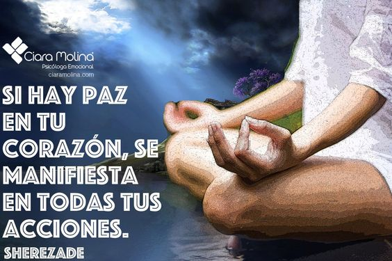 ¿HAY PAZ EN EL TUYO?... (((Sesiones y Cursos Online www.ciaramolina.com #psicologia #emociones #salud)))