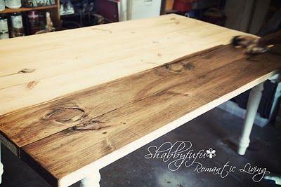 DIY Plank top farmhouse table