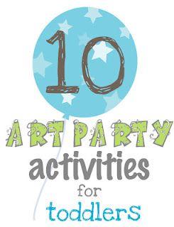 toddler art party ideas