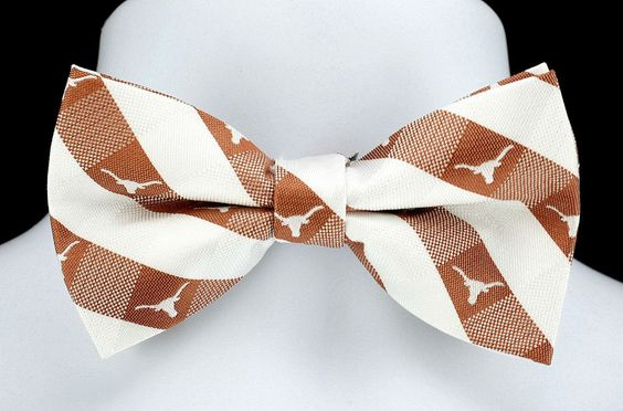 New University Of Texas Longhorns Plaid Mens Bow Tie Adjustable College Bowtie #EaglesWings #BowTie
