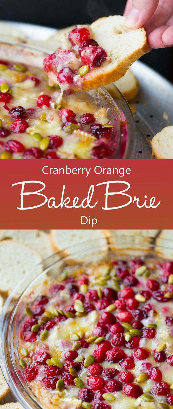 Easy Cranberry Orange Baked Brie Dip Recipe