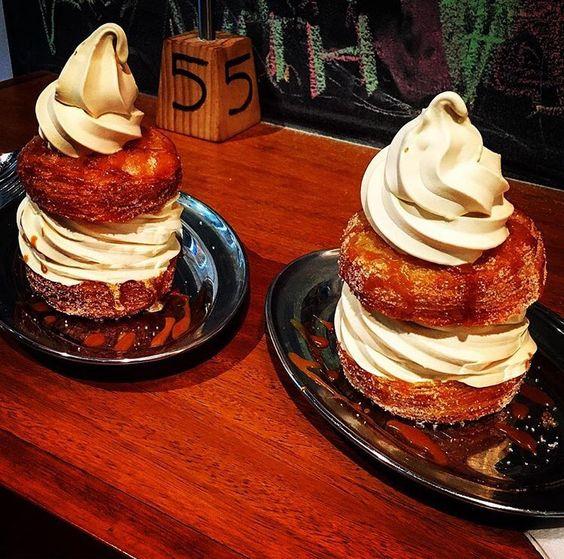 Donut and ice cream