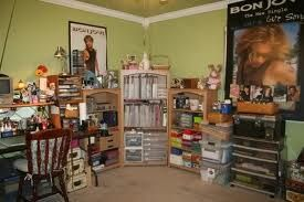 This found on twopeas. I love the variety of storage. I just think it shows creativity and allows the person's personality and taste to shine through.