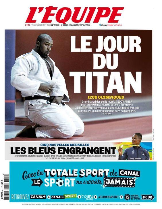 L'Équipe - Vendredi 12 Août 2016 - N° 22667