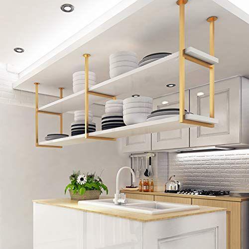 Hanging Shelves European Style Wrought Iron Restaurant Kitchen Shelf Rack Cabinet Ceiling Rack Bar Shelf Living In 2020 Hanging Shelf Kitchen Ceiling Shelves Shelves