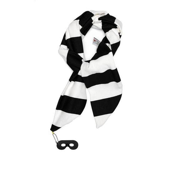 Beau Loves Black & White Stripey Scarf | MonkeyMcCoy