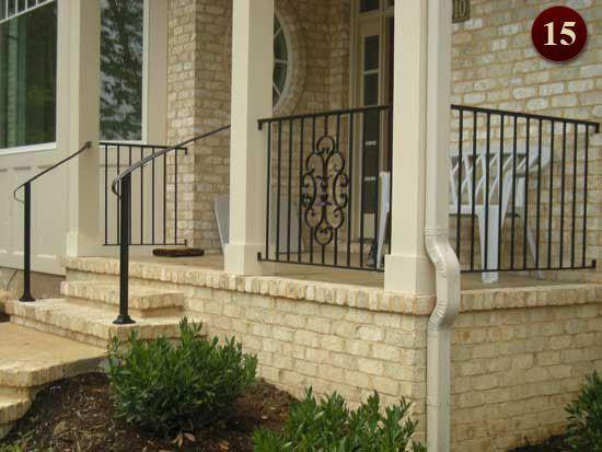 Exterior Residential Iron Railings Custom Aluminum Railings In Raleigh NC
