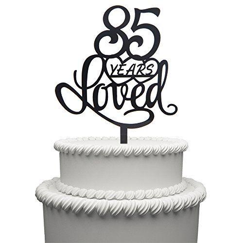 90 Cake Topper Acrylic Black Ninety Birthday Anniversary Party Decorations