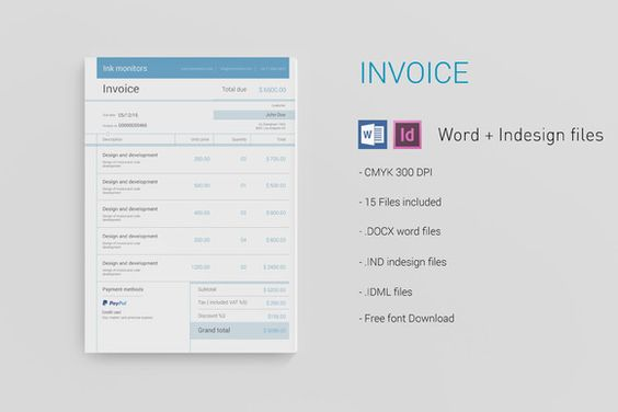 Simple Invoice by Adam Raber on Creative Market Creative Designs - simple invoice example