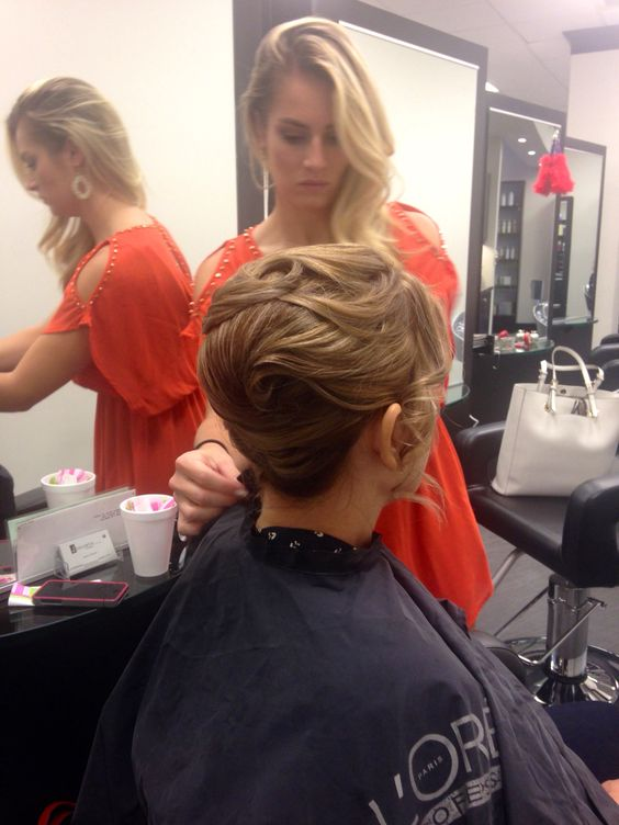 Mom's hair on my wedding day was gorgeous.   Styled by Jovan at Susan Alan Salon in Northridge, CA