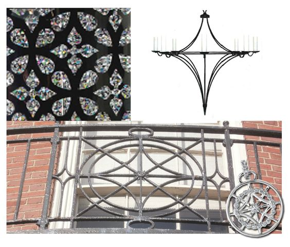 Hearts On Fire's Italian designer, Ilaria Lanzoni, found inspiration for her Copley Collection on a stroll through the historic Back Bay streets in Boston, MA. Gathering inspiration from the ironwork of balconies and detailed light fixtures...the resulting designs are spectacular! #inspirtaion #pendant