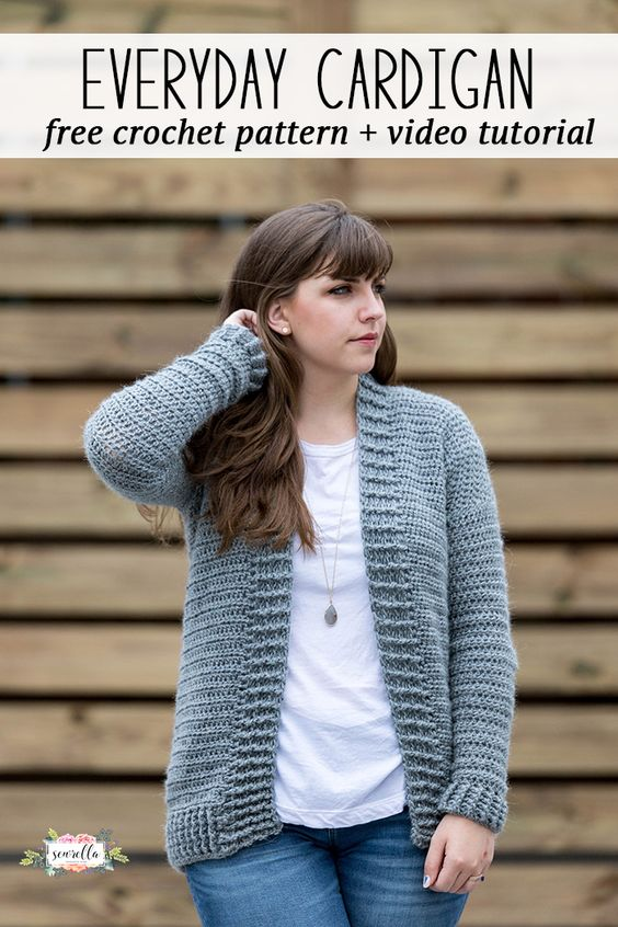 Crochet the easy beginner friendly everyday cardigan sweater super quick! It's a great garment to make for gift giving or just for yourself if you want something super cozy!