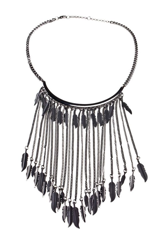 Dangling Feather Necklace