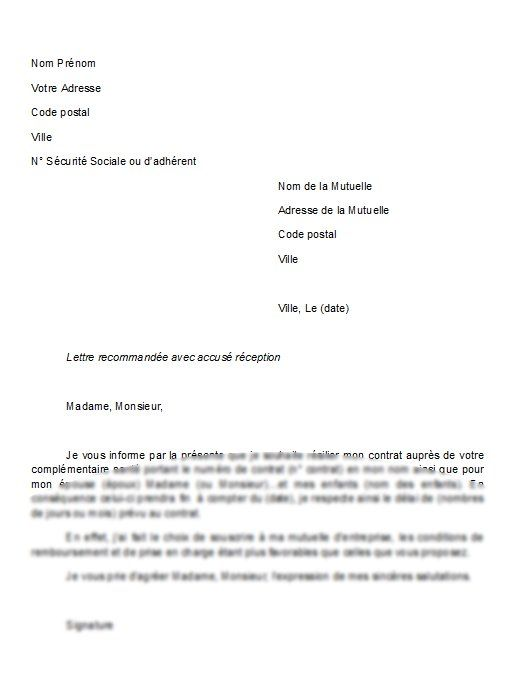 Modele De Lettre De Resiliation Mutuelle Lusocarrelage Lettre De Resiliation Modeles De Lettres Lettre A