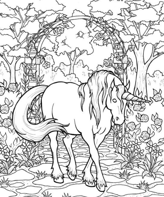 Coloring Page Of A Unicorn Full Horse Coloring Pages Unicorn Coloring Pages Detailed Coloring Pages