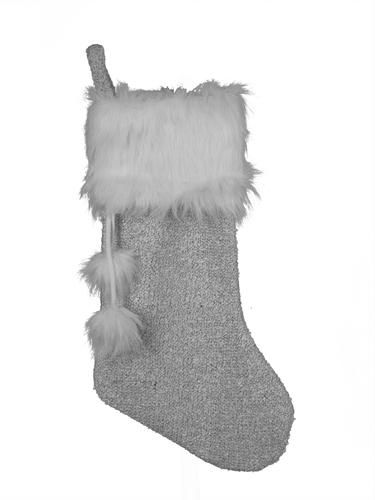 """20"""" Knitted Fur Stocking (Assorted Styles) at Menards®"""