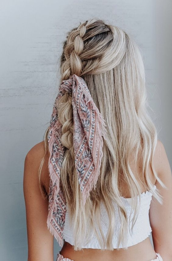 bandana wrap braid