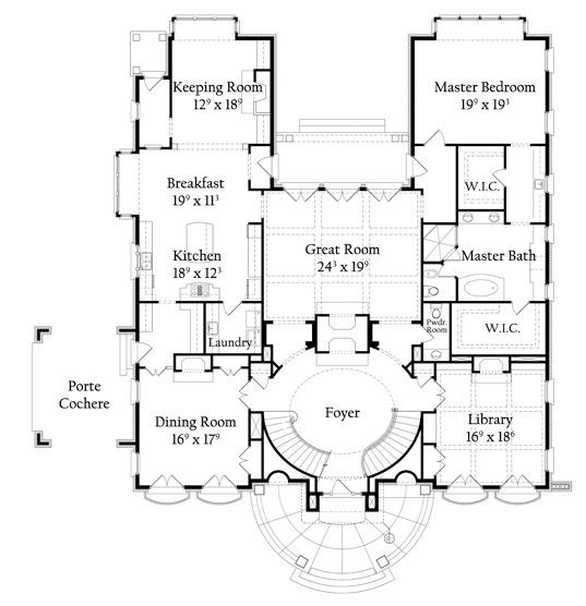 Nottingham House Plans House Blueprints English Country Style