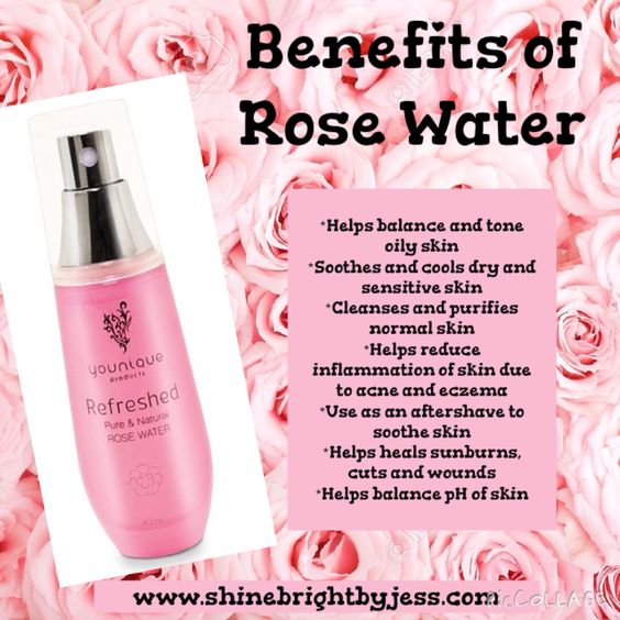 Benefits of Rose Water #rosewater #younique #benefitsofrosewater: