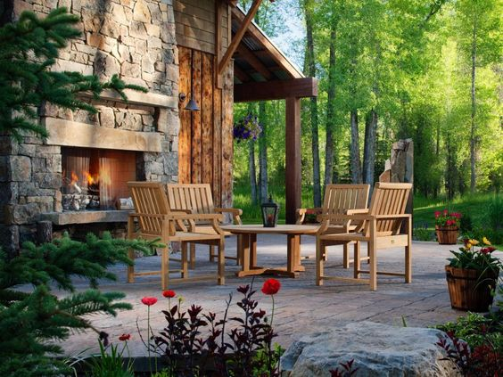 20 Cozy Outdoor Fireplaces | Outdoor Design - Landscaping Ideas, Porches, Decks, & Patios | HGTV