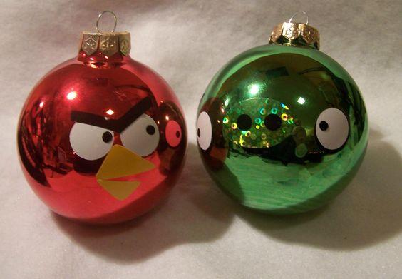 #Esferas para árbol de #Navidad de los #AngryBirds... @Candidman