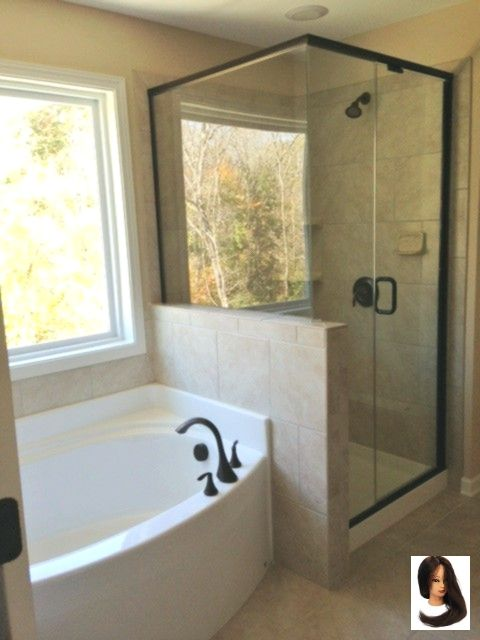 Master Bath With Semi Frameless Shower Separate Garden Tub Bathtubrenovation With Images Master Bathroom Design Small Master Bathroom Bathrooms Remodel
