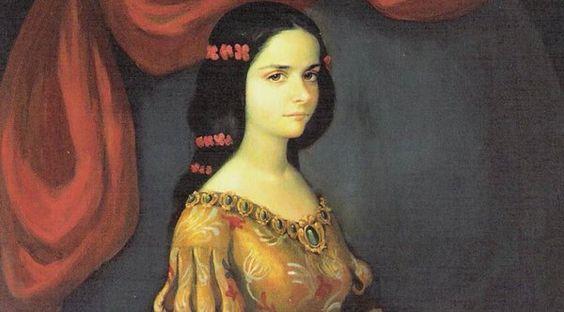 Sor Juana de 16 años, antes de ser monja.