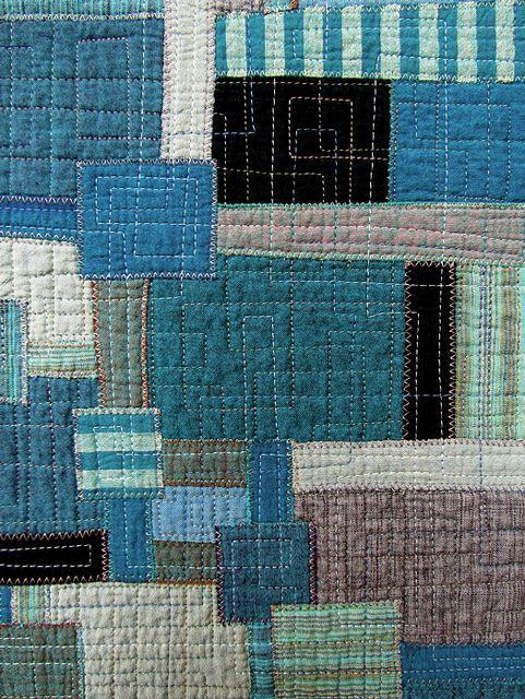beautiful boro-inspired quilt